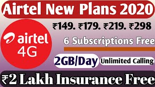 Airtel Prepaid Recharge Plans Offers List || Airtel New Plans 2020 || Airtel Prepaid Recharge Plans