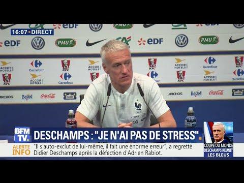 """""""En Français?"""": Deschamps pas vraiment enchanté d'une question en anglais"""