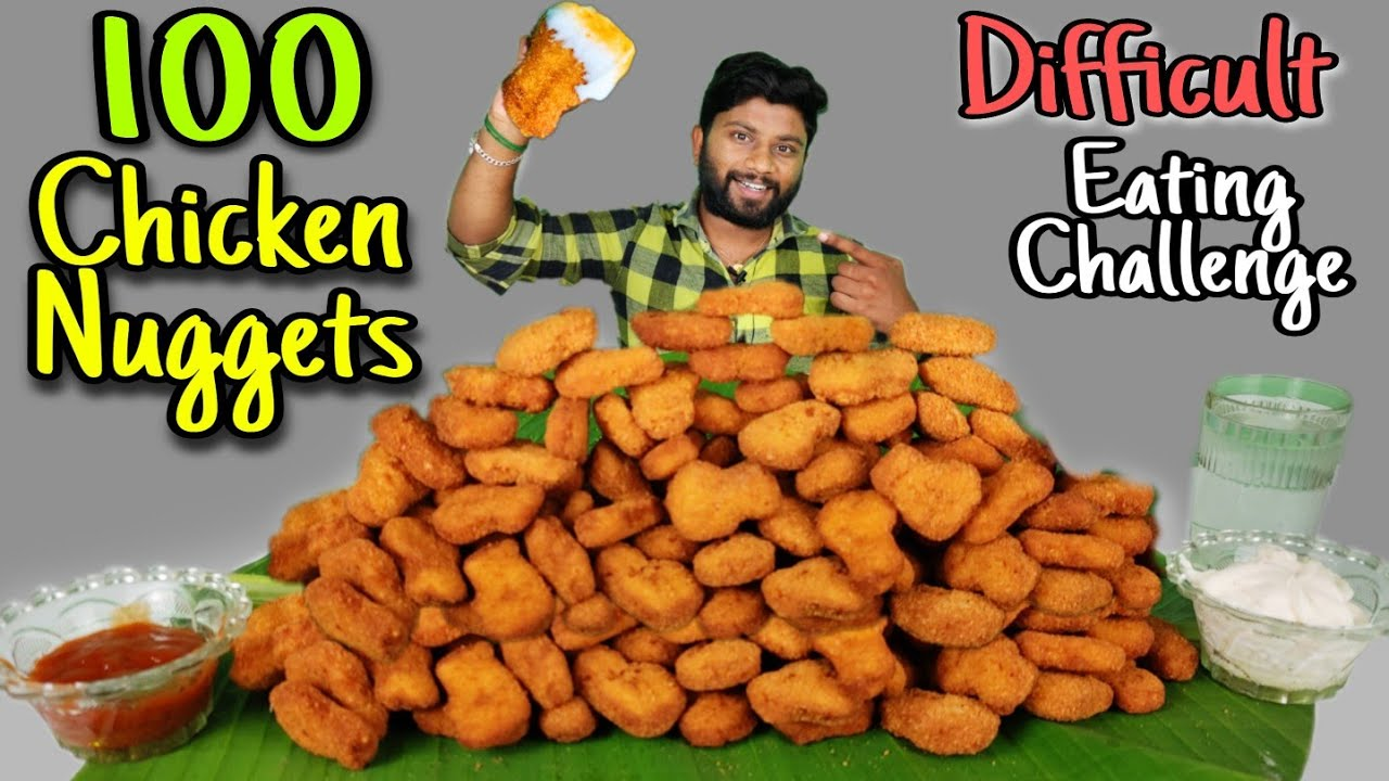 100 CHICKEN NUGGETS EATING CHALLENGE | CRISPY & CRUNCHY | Special Giveaway | Eating Challenge Boys