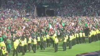 hibs hampden pitch invasion scottish cup final