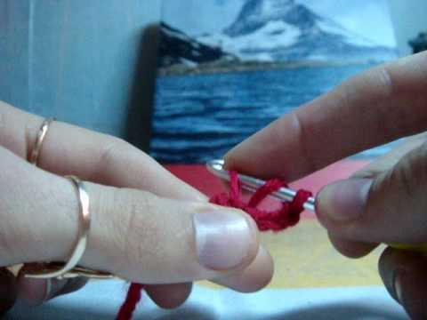 Вязание крючком-Цветок часть 1