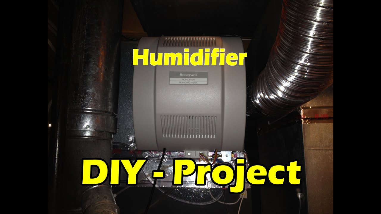 Honeywell Humidifier Install  YOU CAN DO IT in 1 HOUR!!! 🔥🔥🔥  YouTube
