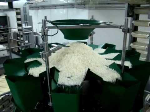 Linea para envasar mozzarella rallada en bolsas de 1,5 kg