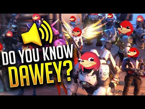 "Overwatch PRO PLAYERS Funny ""DA WEY"" In-Game Voice Chat (Ugandan Knuckles!! - (WTF Moments)"