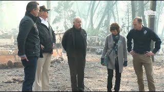 President Trump Addresses Media & Surveys Damage From California Fire 11/17/18