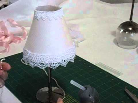 Wine Glass Lamp Shade TutorialYouTube
