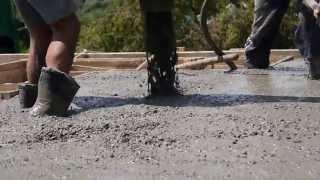 Заливка бетона армирование композитной арматурой(Работы с композитной арматурой., 2013-07-18T05:50:18.000Z)