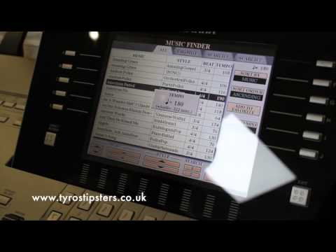 Quick tip for changing music finder songs on Yamaha Tyros