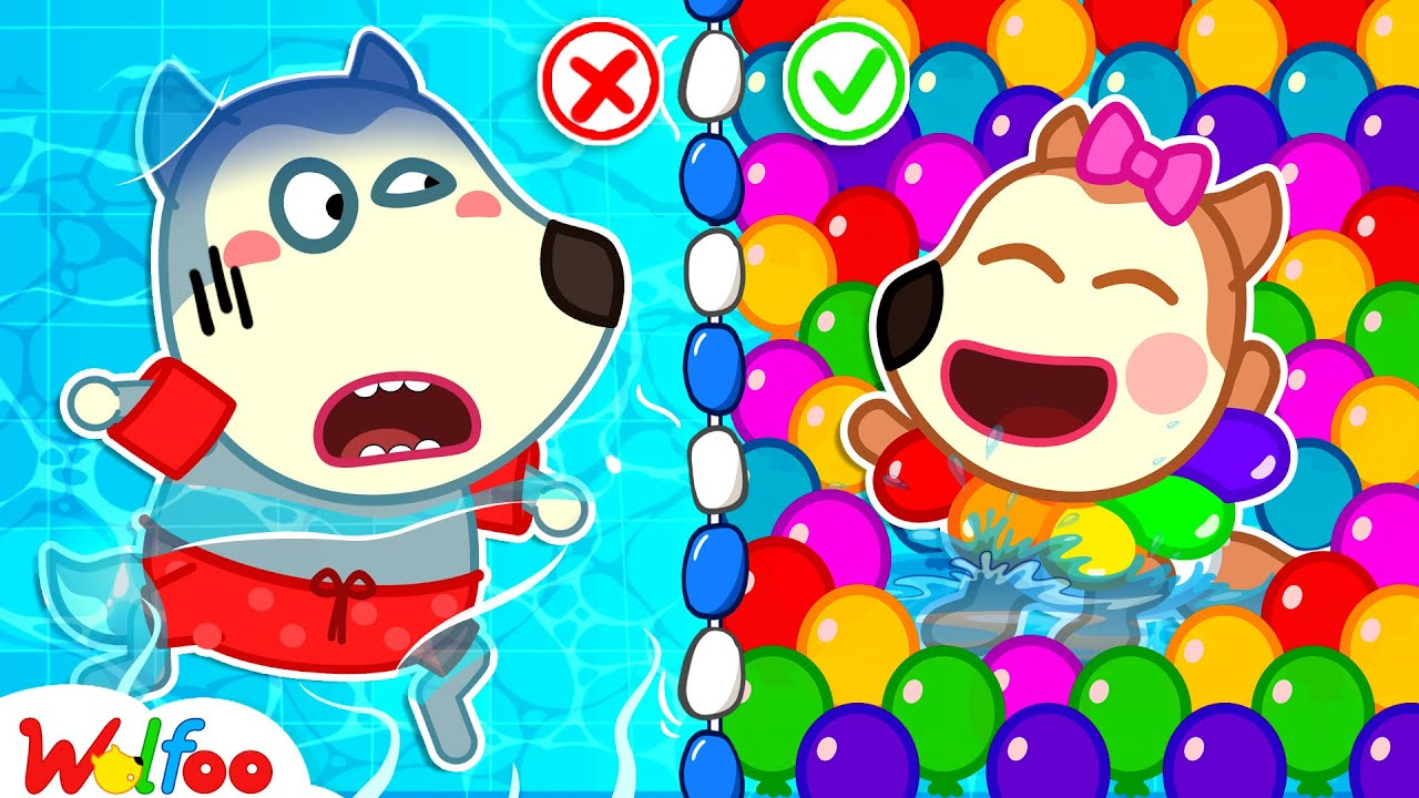 Download No No, Baby Wolfoo! Don't Be Afraid of Water - Wolfoo Learns to Swim with Baby Lucy | Wolfoo Channel