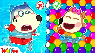 No No, Baby Wolfoo! Don't Be Afraid of Water - Wolfoo Learns to Swim with Baby Lucy   Wolfoo Channel