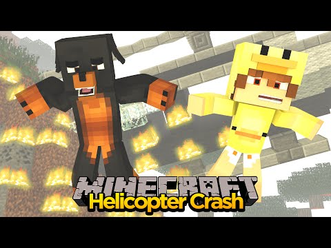 MINECRFAT ADVENTURE - BABY DUCK & DONUT THE DOG IN A HELICOPTER CRASH!!!