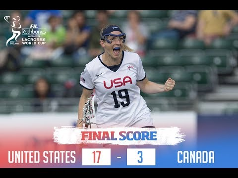 USA Knocks Off CANADA 17-3 at 2017 Rathbones Women's Lacrosse World Cup