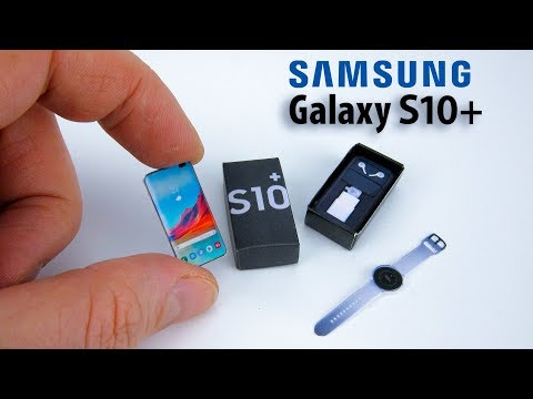 DIY Miniature Samsung Galaxy S10+ unboxing for Barbie | DollHouse