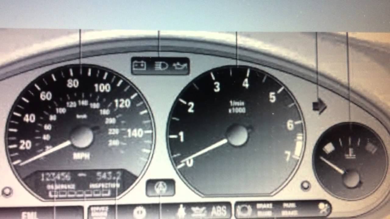hight resolution of bmw z3 dashboard warning lights symbols what they mean here youtube