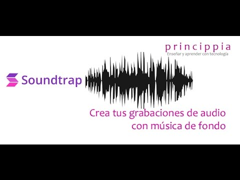 Crea tus grabaciones de audio con música de fondo
