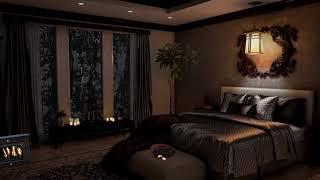 Cozy bedroom thunderstorm & Heavy rain ambience [3 hours]