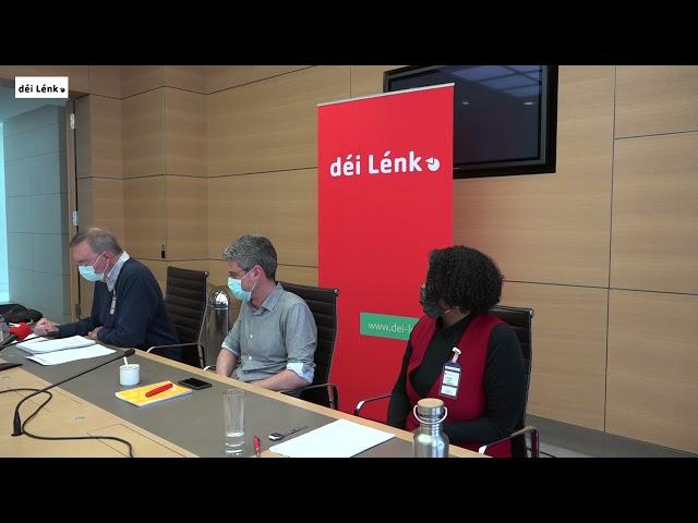 Pressekonferenz vun déi Lénk Stad iwwer d'Privatpolice an der Stad