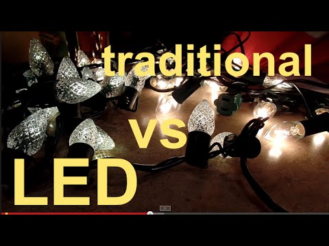 LED Christmas Lights vs Traditional Christmas Lights - YouTube