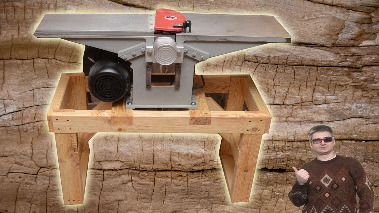 Homemade Wooden Stand For Jointer Youtube
