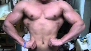 Swole Teen Bodybuilder Jamie Flexing Rock Hard Muscles