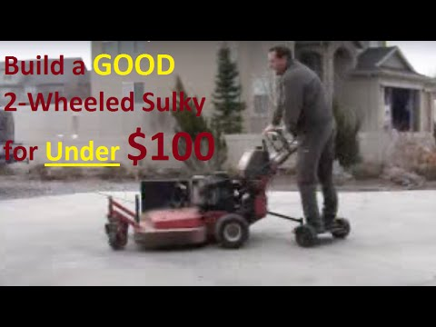 Good home made 2 wheeled sulky for under $100