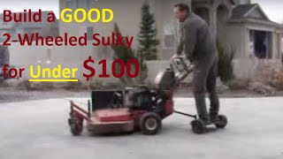 Diy Mower Sulky