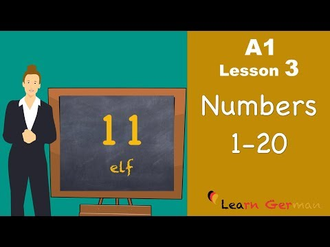 Learn German | Numbers (Part 1) | Zahlen | German for beginners | A1 - Lesson 3