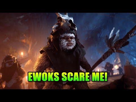 EWOKS ARE SCARY! - Night On Endor | Star Wars Battlefront 2