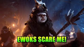 EWOKS ARE SCARY! - Night On Endor | Star Wars Battlefront 2