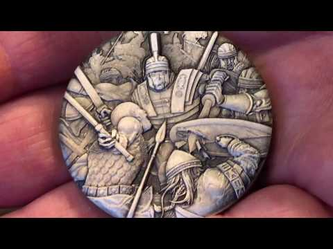 New Coin, New Series, Roman Legion Silver 2 oz Hi Relief Rimless Coin