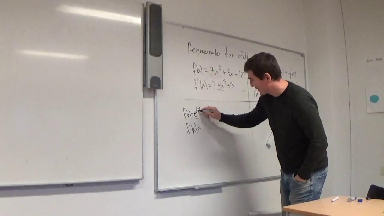 Mat B 6.3b Differentiation regneregler gange - inkl regneeksempel