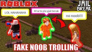 FAKE NOOB traina in Roblox Jailbreak
