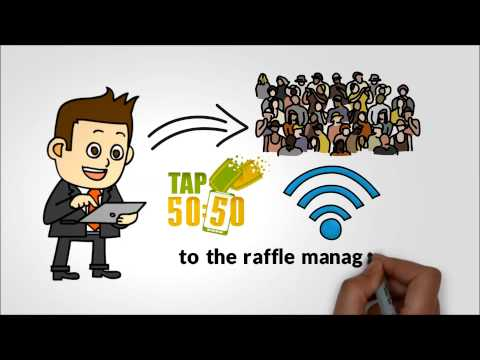 HOW DOES AN ELECTRONIC 50/50 RAFFLE WORK?