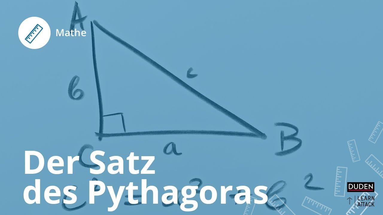 der satz des pythagoras einfach erkl rt mathe duden learnattack youtube. Black Bedroom Furniture Sets. Home Design Ideas