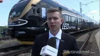 Předvedení nové soupravy vlaků LEO Express