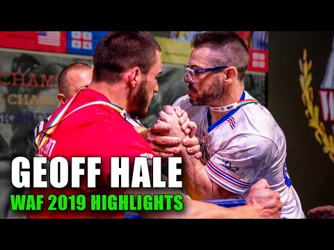"GEOFF ""THE HELLRAISER"" HALE (WAF Worlds Arm Wrestling Highlights 2019)"