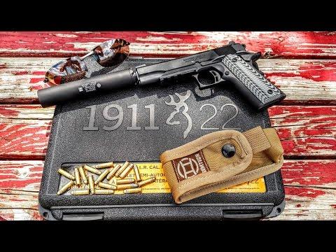 browning black label 1911 22 w gemtech gm 22 silencer youtube. Black Bedroom Furniture Sets. Home Design Ideas