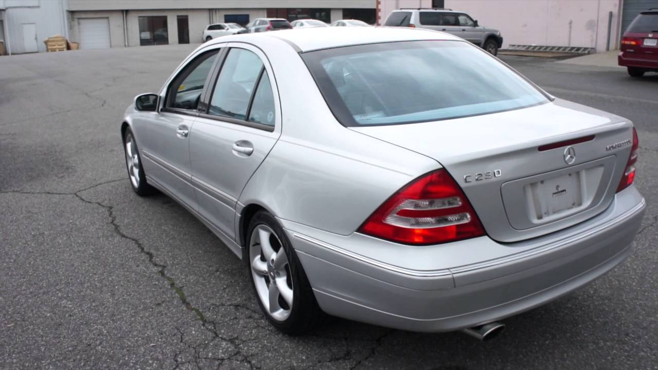 2004 mercedes benz c230 sport walkaround start up tour for Mercedes benz c230 sport