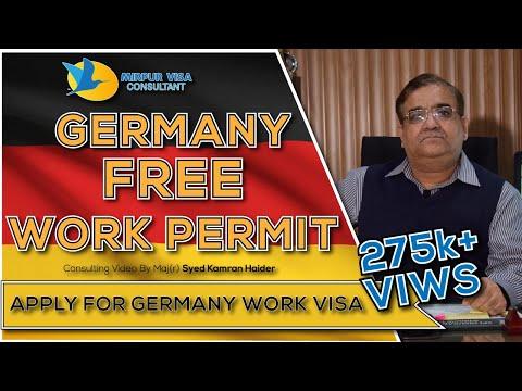 Germany Free Work Permit Visa    Schengen Work Visa    Free German Work Visa