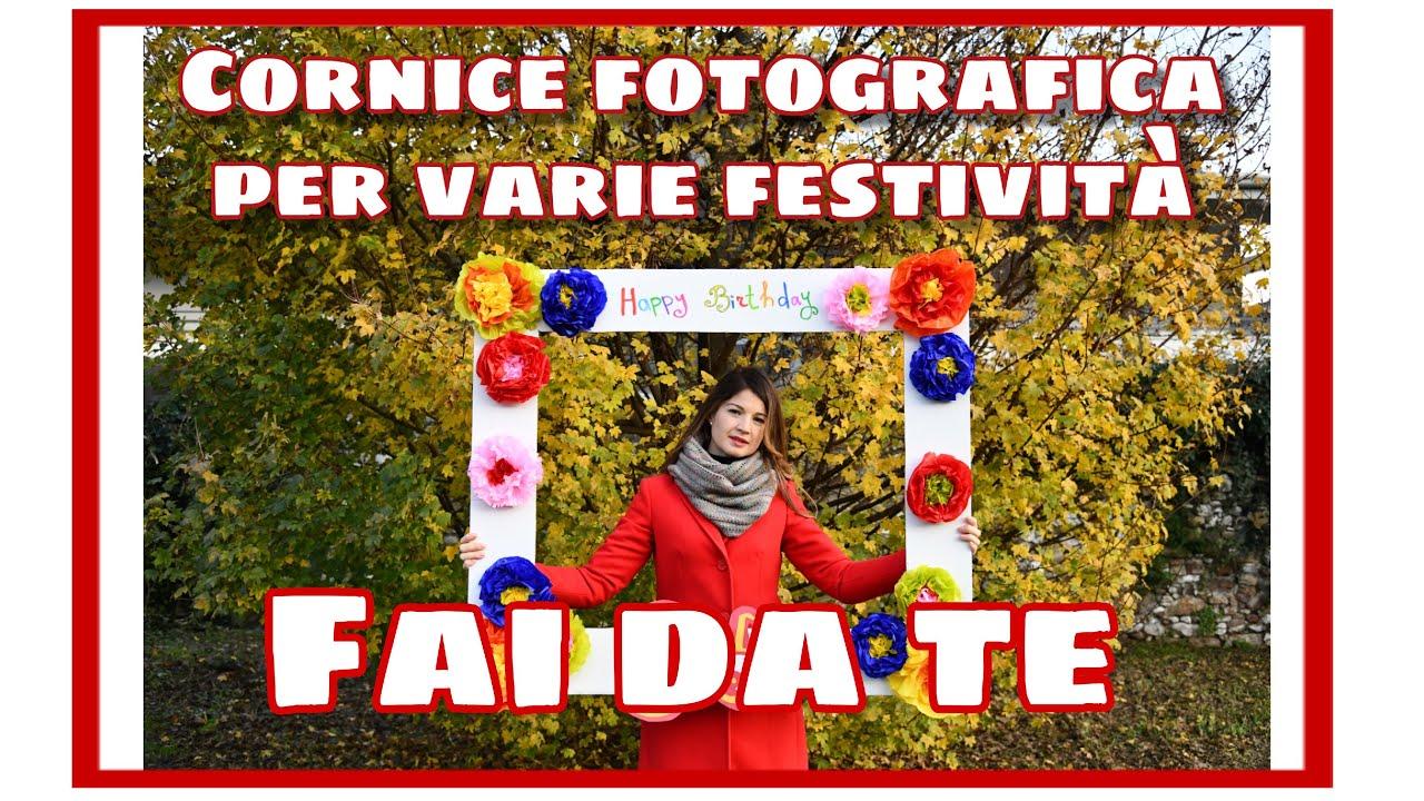 Cornice fotografica selfie per varie festivit fai da te for Bordi per aiuole fai da te