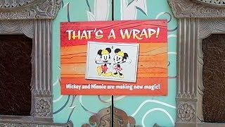 Mickey and Minnie's Runaway Railway ride signs arrive as The Great Movie Ride closes