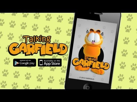 Talking Garfield for iPhone, iPad & Google Play!
