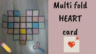 Multifold heart card, best paper craft ideas#DIY#paper#craft#handmade#greetingcard#giftingideas#art