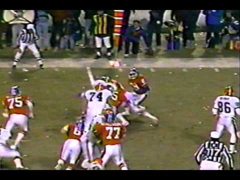 Final 3 minutes 1987 AFC Title Byner Fumble