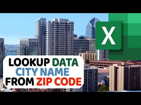 How To Lookup City Name From Zip Code In Excel