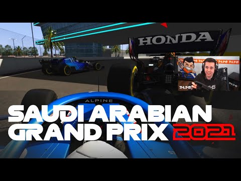 RACING THE NEW F1 2021 SAUDI ARABIAN GP JEDDAH STREET CIRCUIT WITH 28 DRIVERS!! (FIRST LOOK!)
