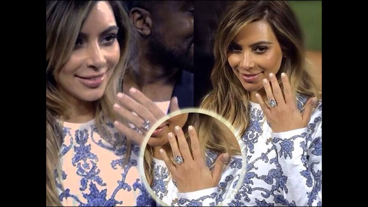 Kim Kardashianu0027s Amazing Engagement Ring From Kanye West   YouTube