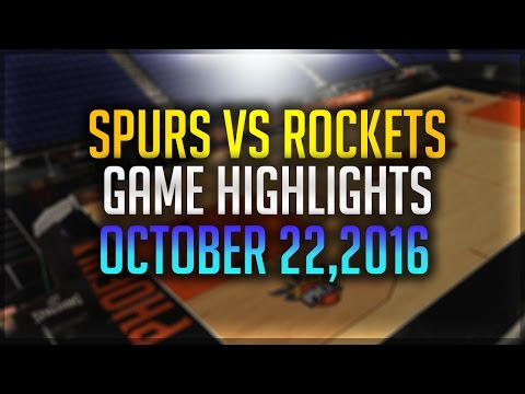 San Antonio Spurs vs. Houston Rockets| Full Game Recap| October 22, 2016| 2016-17 Preseason