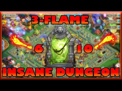 Castle Clash: Four Setups To 3-Flame Insane Dungeon 6-10