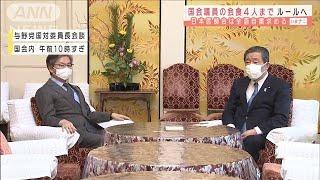 国会議員の会食4人まで 日本医師会は全面自粛要請(2021年1月6日) - YouTube
